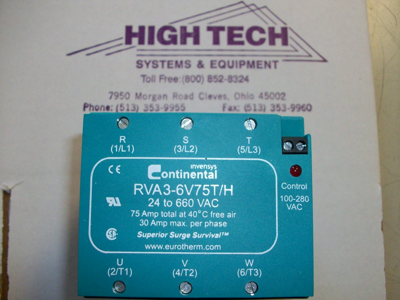 RVA3 6V75T/H Continental DIN Rail Three Phase Solid State Relay ...