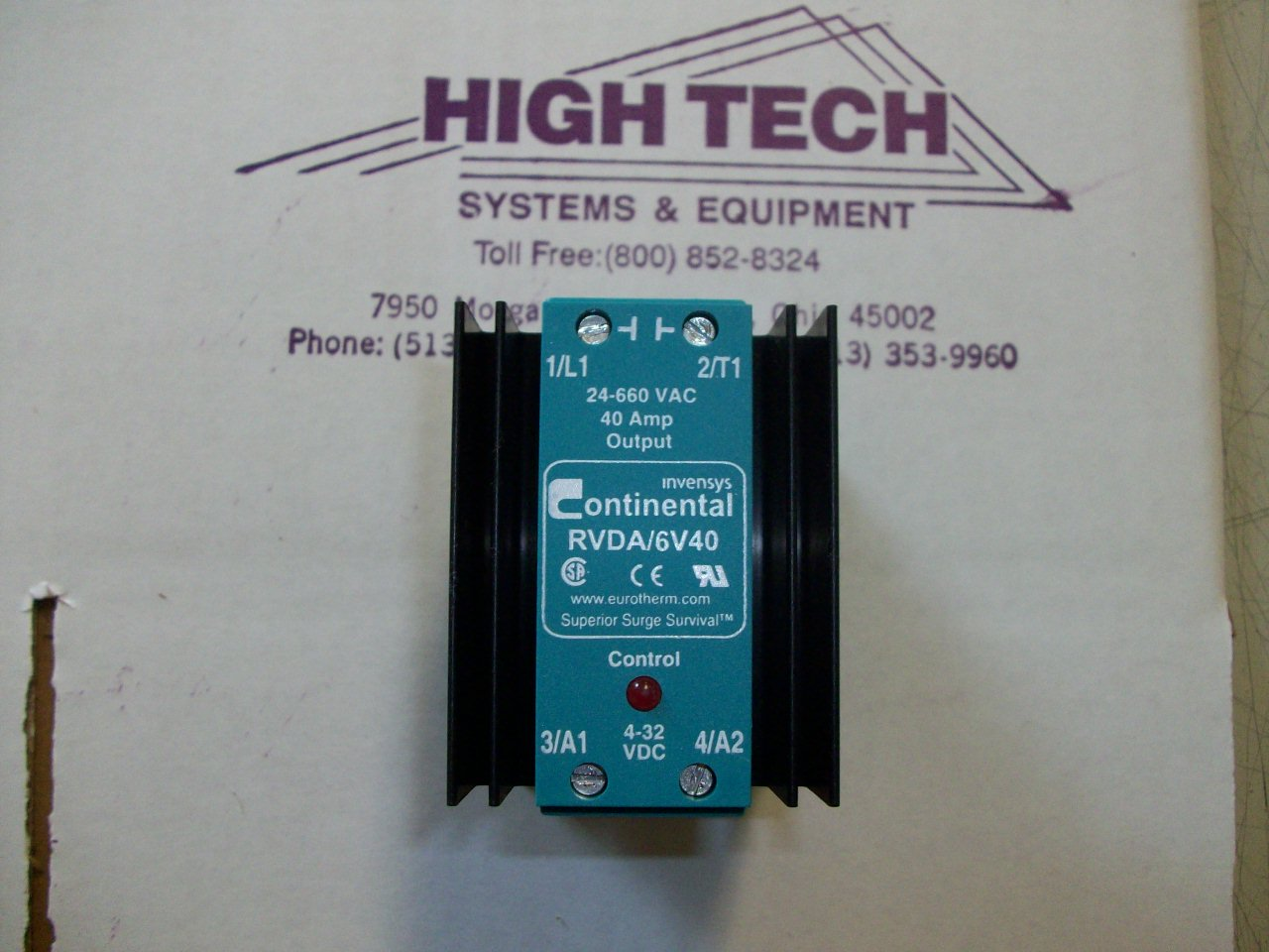 Rvda 6v40 Continental Din Rail Single Phase Solid State Relay Brands