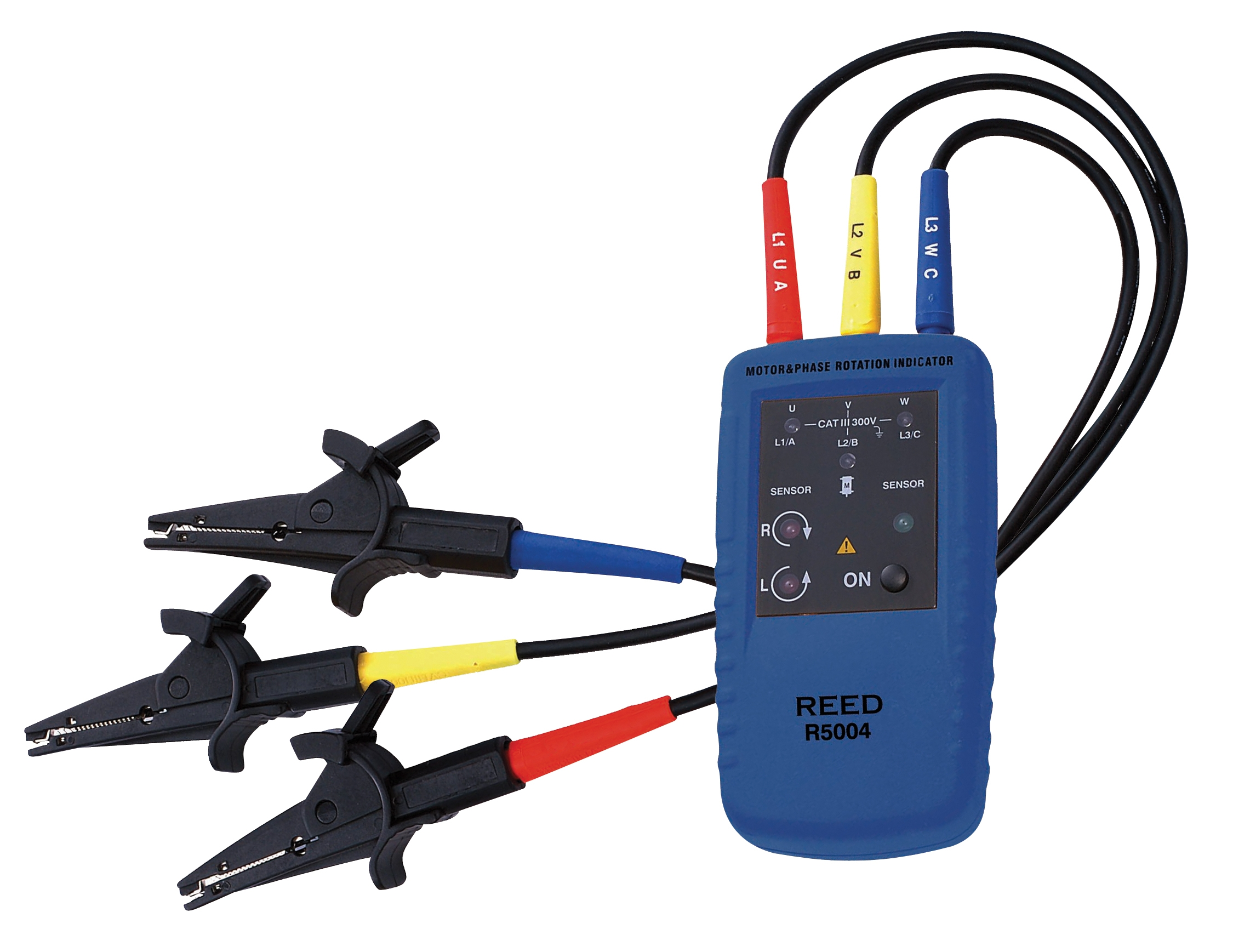 Reed Instruments R5004 3-Phase Sequence and Motor Rotation Tester