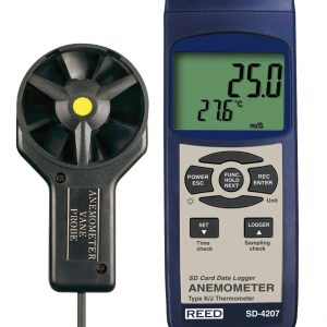 SD-4207 Reed Instruments Data Logger Anemometer Thermometer Air Velocity Meter