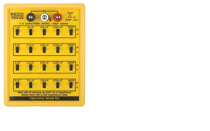Reed Instruments CBOX-406 CAPACITANCE DECADE BOX