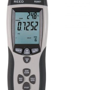 Reed Instruments R3001 Anemometer/Manometer, 0.752psi