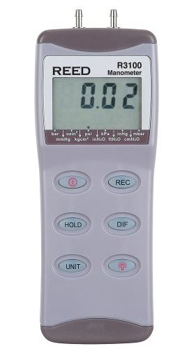 Reed Instruments R3100 Digital Manometer (Replaced 82100)