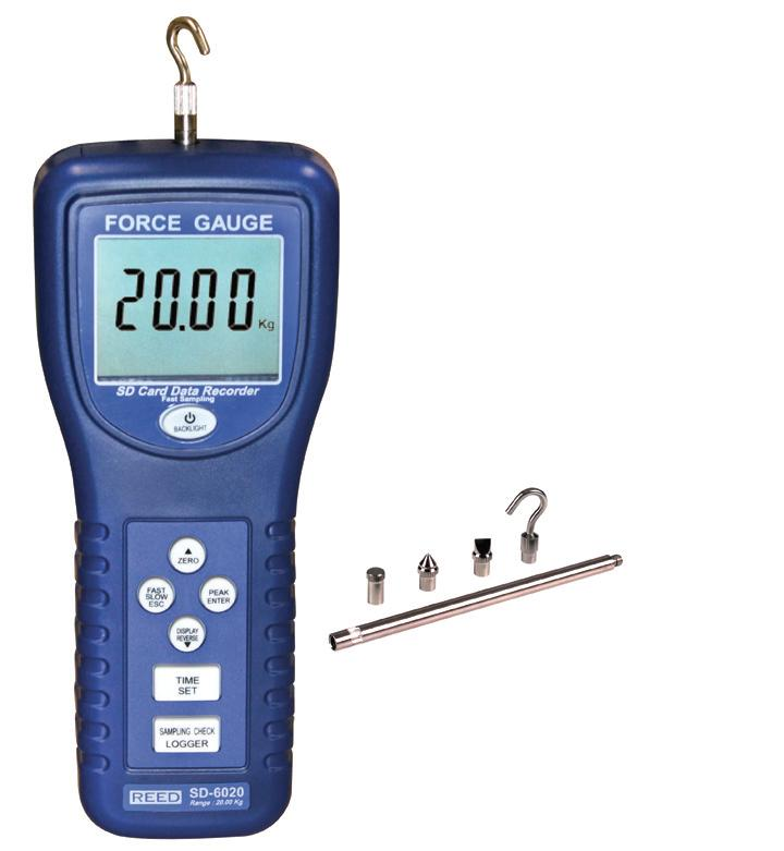 Reed Instruments SD-6020 Force Gauge/SD Card Data Logger