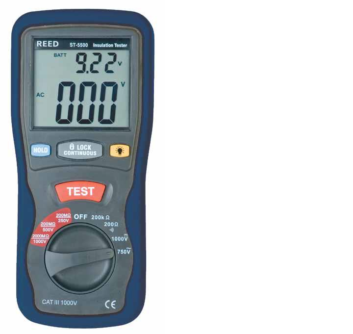 Reed Instruments ST-5500 Insulation Tester