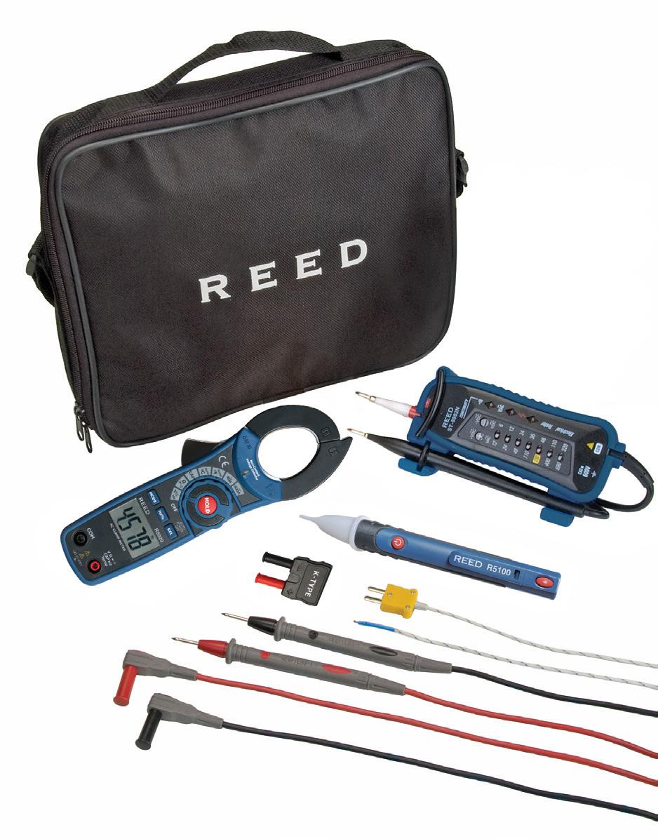 Reed Instruments St Electrickit Clamp Meter Voltage Tester
