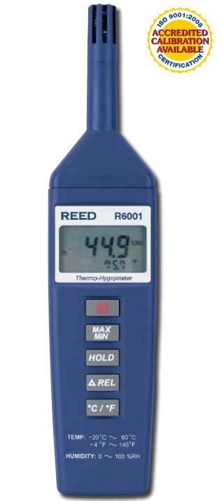 Reed Instruments R6001 Thermo Hygrometer High Tech
