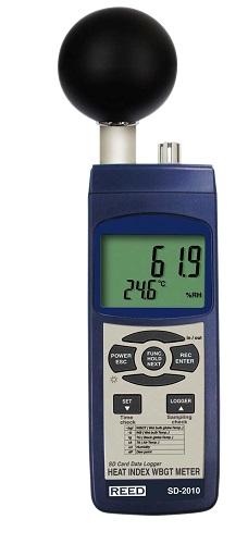 Reed Instruments SD-2010-NIST Heat Stress Meter Data Logger SD2010-NIST