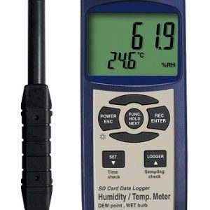 Reed Instruments SD-3007-NIST Thermo-Hygrometer Type K Thermocouple Data Logger SD3007-NIST