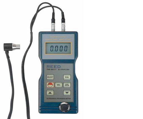 Reed Instruments TM-8811-NIST Ultrasonic Thickness Gauge & Probe with Velocity TM8811-NIST
