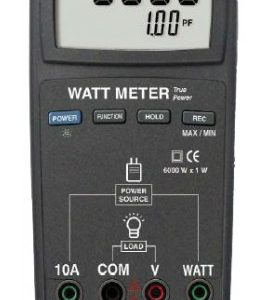 REED Instruments R5000 True RMS Watt Meter, 6000W (Replaced DW-6060)